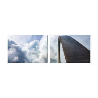 Lookup Gateway Arch St.Louis MO | 36x12 2X Canvas