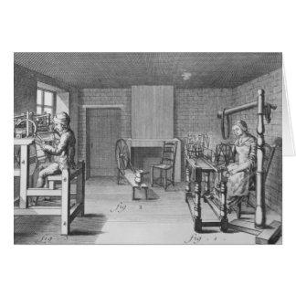 Loom for weaving stockings card