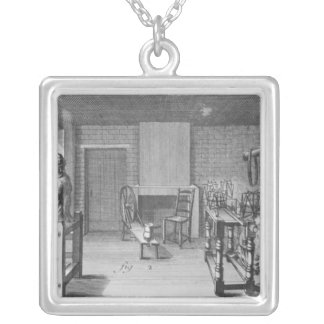 Loom for weaving stockings silver plated necklace