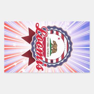 Loomis CA Rectangle Stickers