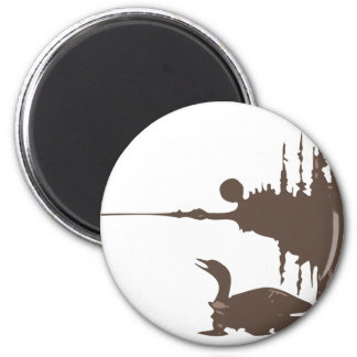 Loon 2 Inch Round Magnet