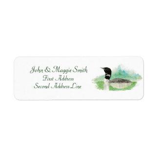 Loon Address Label