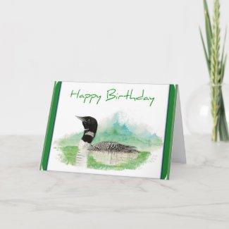 Loon Birthday Card card
