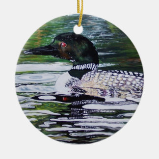 Loon by Susan Oling Ceramic Ornament