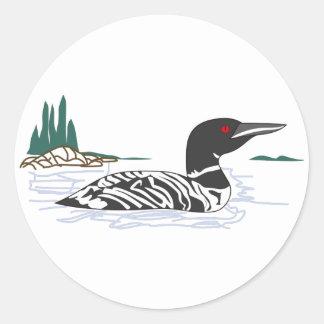 Loon Classic Round Sticker