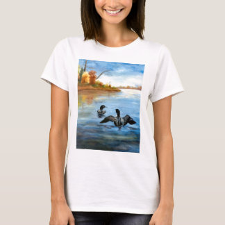 Loon Dance II Ladies Tshirt