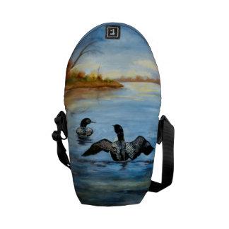 Loon Dance II Mini Messenger Bag