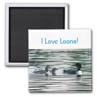 Loon family magnet