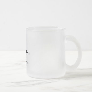 loon frosted glass coffee mug