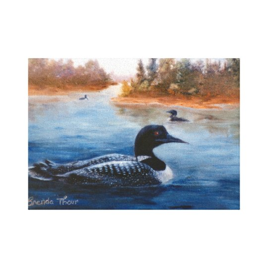 Loon Lake Wrapped Canvas Print