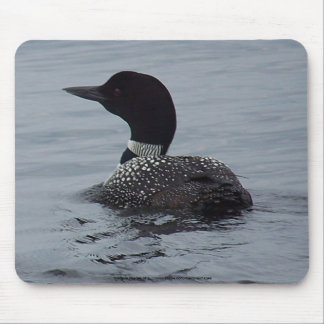 Loon on Pushaw Lake, Maine Mouse Pad