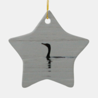 Loon on the Lake Ceramic Ornament