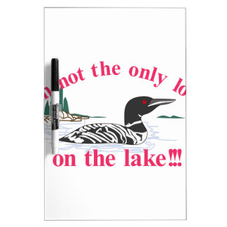 Loon on the Lake Dry-Erase Board