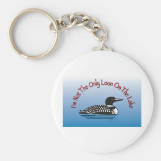 Loon Products Basic Round Button Keychain