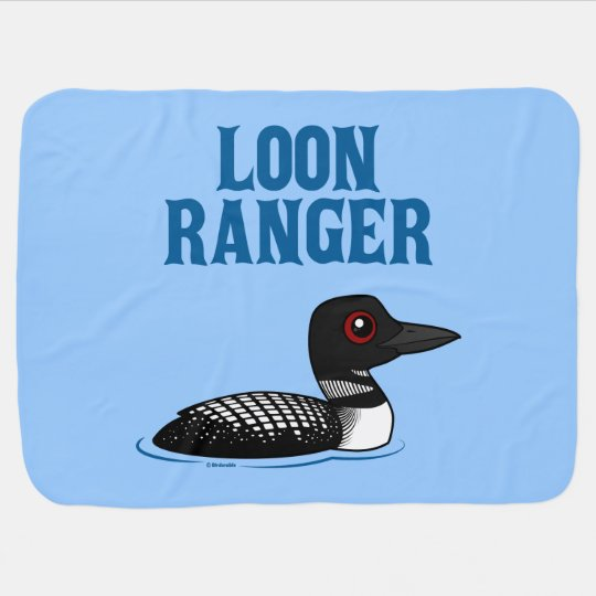 Loon Ranger Receiving Blanket