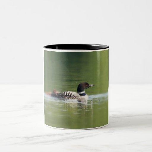 Loon with chick Coffee Mug