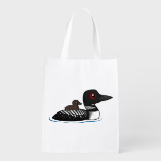 Loon with chick grocery bag