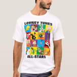 """LOONEY TUNES™ Character Grid T-Shirt<br><div class=""""desc"""">Check out all your favorite Looney Tunes characters in this colorful character grid. From top to bottom: Tweety,  Taz,  Bugs Bunny,  Porky Pig,  Sylvester,  Daffy Duck,  Marvin the Martian,  K-9,  Yosemite Sam,  Elmer Fudd,  Road Runner,  Pep&#233; Le Pew,  Foghorn Leghorn,  Michigan J. Frog,  Wile E. Coyote,  and Speedy Gonzales.</div>"""