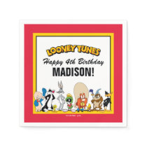 LOONEY TUNES™ Character Group | Birthday Paper Napkin