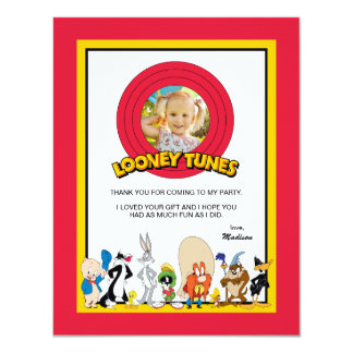 Looney Tunes Character Group | Birthday Thank You Card