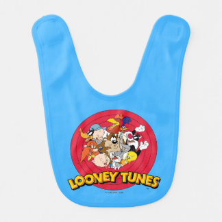Looney Tunes Character Logo Baby Bib