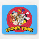 "LOONEY TUNES™ Character Logo Mouse Pad<br><div class=""desc"">This Classic Looney Tunes logo features all your favorite characters. Bugz,  Tweety,  TAZ,  Porky,  Sylvester,  Yosemite Sam,  Road Runner,  Daffy,  Yosemite Sam &amp; Elmer Fudd.</div>"