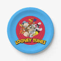 LOONEY TUNES™ Character Logo Paper Plate
