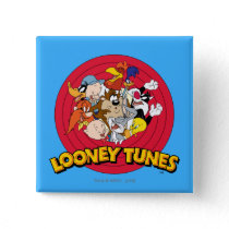 LOONEY TUNES™ Character Logo Pinback Button