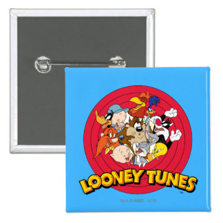Looney Tunes Character Logo Pinback Button