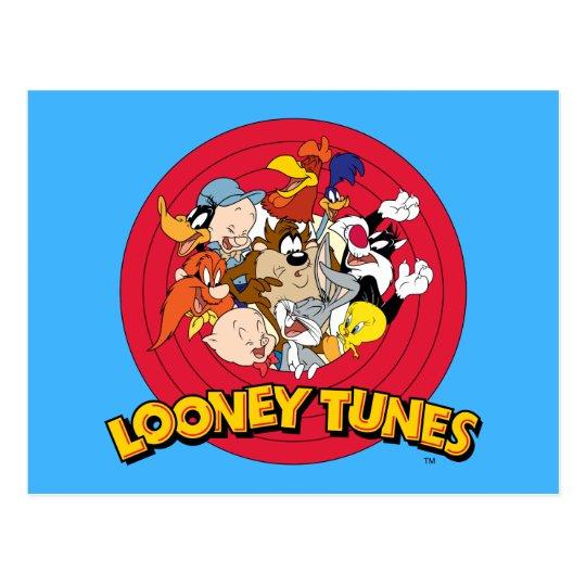 Looney Tunes Character Logo Postcard Zazzle Com