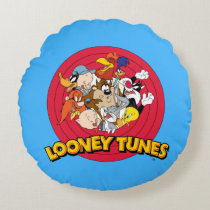 LOONEY TUNES™ Character Logo Round Pillow
