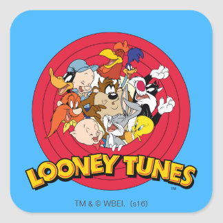 Looney Tunes Character Logo Square Sticker