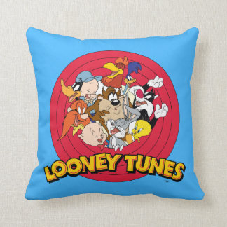 LOONEY TUNES™ Character Logo Throw Pillow