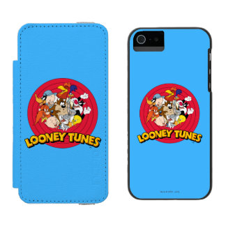 LOONEY TUNES™ Character Logo Wallet Case For iPhone SE/5/5s