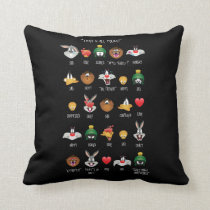 LOONEY TUNES™ Emoji Chart Throw Pillow