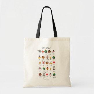 LOONEY TUNES™ Emoji Chart Tote Bag