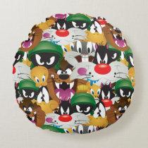 LOONEY TUNES™ Emoji Pattern Round Pillow