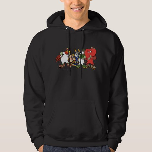 LOONEY TUNES(tm) Group Baseball Picture Hooded Pullover