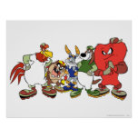 Looney Tunes Group Baseball Picture Poster