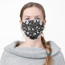 LOONEY TUNES™ Head Outlines Pattern Adult Cloth Face Mask