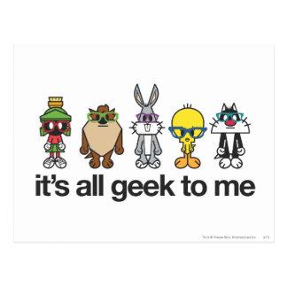 LOONEY TUNES™ Nerds - All Geek Postcard