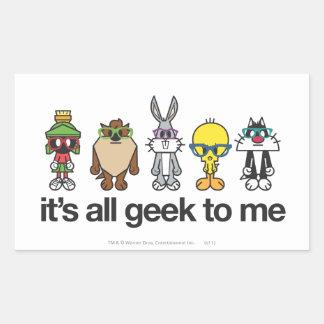 LOONEY TUNES™ Nerds - All Geek Rectangular Sticker