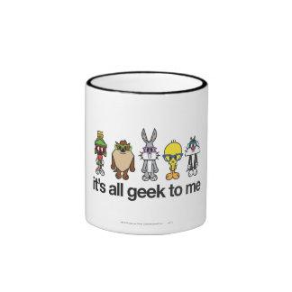 LOONEY TUNES™ Nerds - All Geek Ringer Coffee Mug