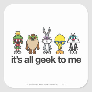 LOONEY TUNES™ Nerds - All Geek Square Sticker