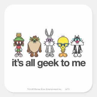 LOONEY TUNES™ Nerds - All Geek Square Sticker