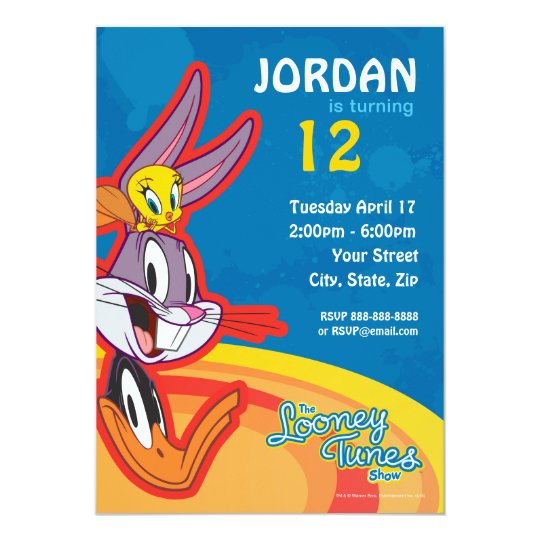 Looney Tunes Show Birthday Invitation Zazzle Com