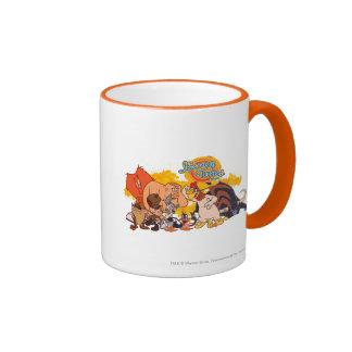 Looney Tunes Show Cast & Logo Ringer Coffee Mug