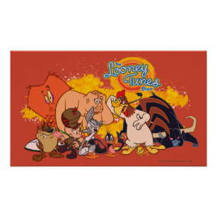 Looney Tunes Show Cast & Logo Poster