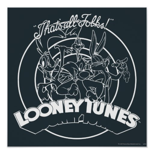 Looney Tunes That's All Folks Print