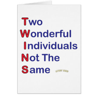 Looney Twins T-W-I-N-S Note Card